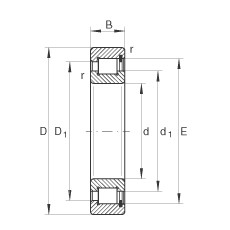 200 mm x 310 mm x 82 mm  INA SL183040 cylindrical roller bearings
