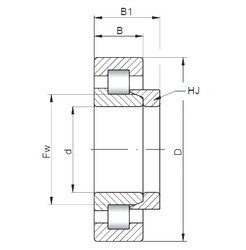380 mm x 560 mm x 82 mm  ISO NH1076 cylindrical roller bearings