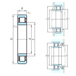 380 mm x 560 mm x 82 mm  PSL NU1076 cylindrical roller bearings