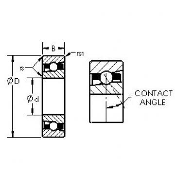 AST H7014C angular contact ball bearings