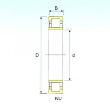 380 mm x 560 mm x 82 mm  ISB NU 1076 cylindrical roller bearings