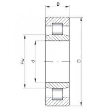200 mm x 310 mm x 82 mm  ISO NU3040 cylindrical roller bearings