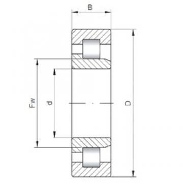 460 mm x 680 mm x 163 mm  ISO NJ3092 cylindrical roller bearings