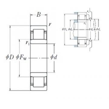 380 mm x 560 mm x 82 mm  NSK NU1076 cylindrical roller bearings