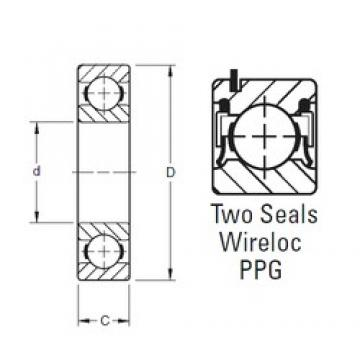 45 mm x 75 mm x 16 mm  Timken 9109PPG deep groove ball bearings