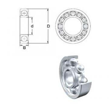 45 mm x 75 mm x 16 mm  ZEN 6009 deep groove ball bearings