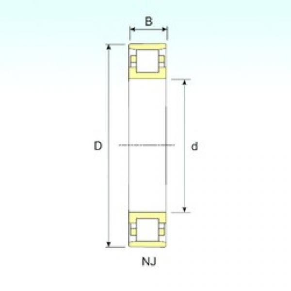 95 mm x 170 mm x 32 mm  ISB N 219 cylindrical roller bearings #1 image