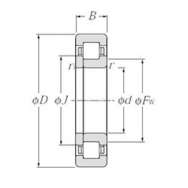 95 mm x 170 mm x 32 mm  NTN NUP219E cylindrical roller bearings #1 image