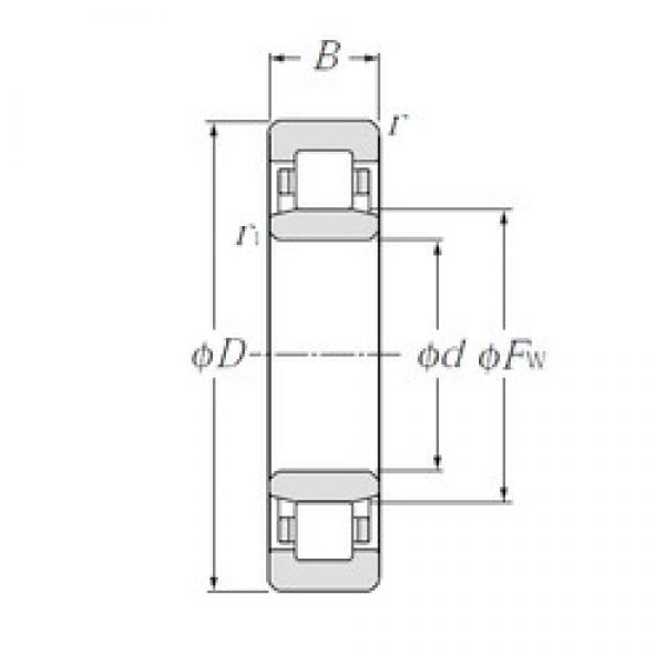 95 mm x 170 mm x 32 mm  CYSD NU219E cylindrical roller bearings #1 image